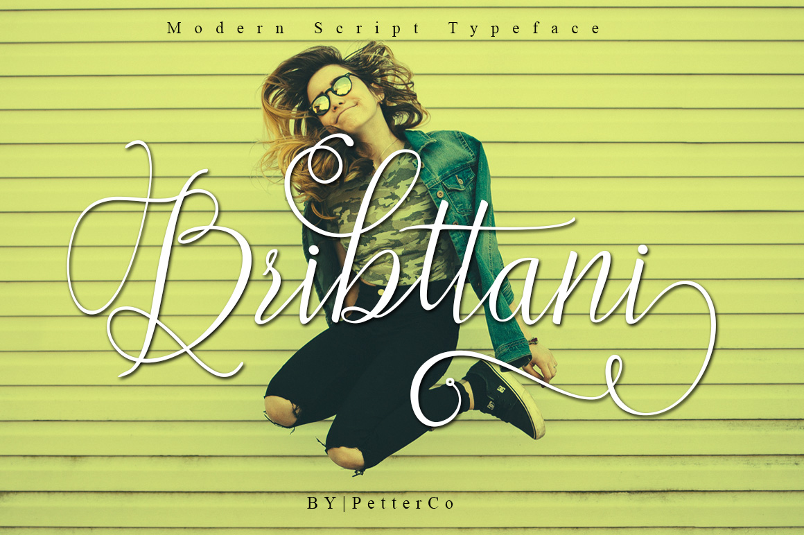 Bribttani in Calligraphy Fonts