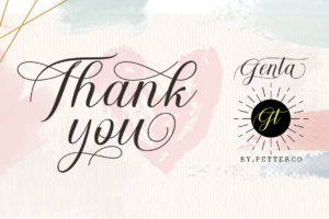 Genta Calligraphy Font in Calligraphy Fonts
