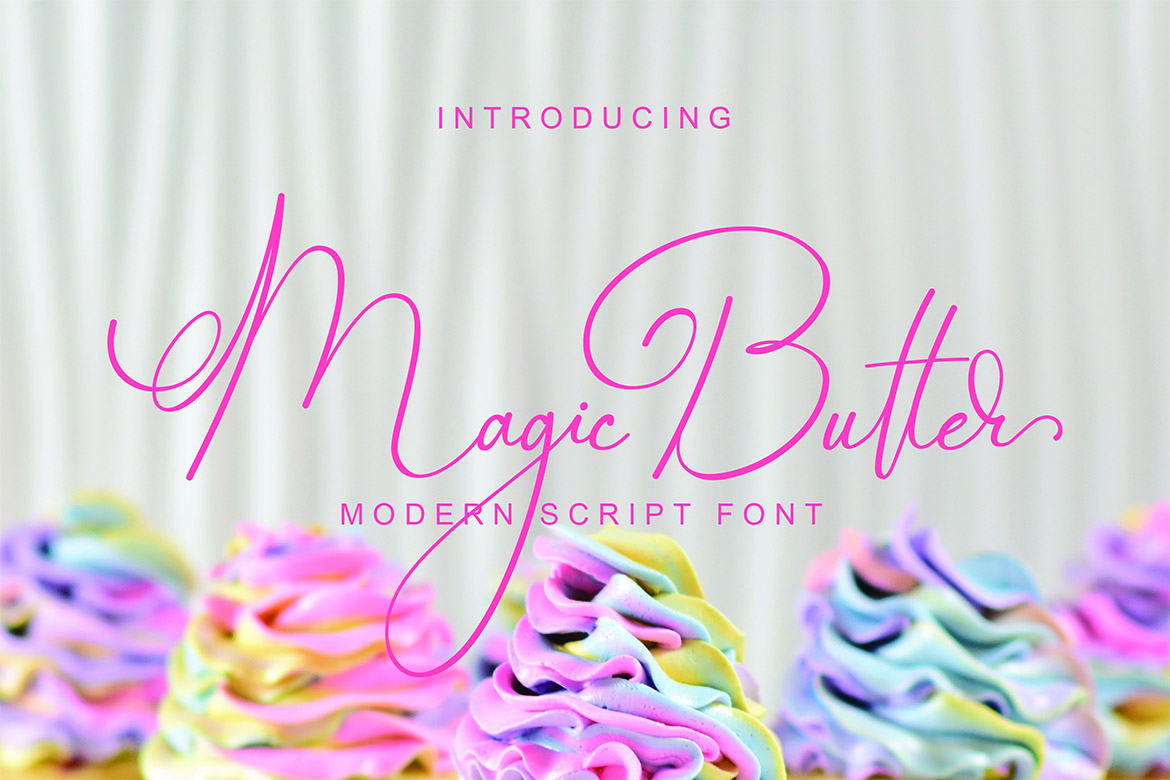 Magic Butter in Calligraphy Fonts