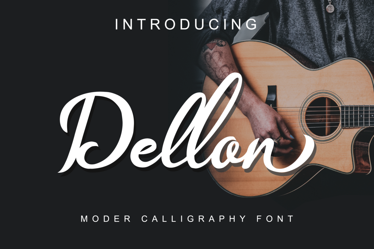 Dellon in Calligraphy Fonts