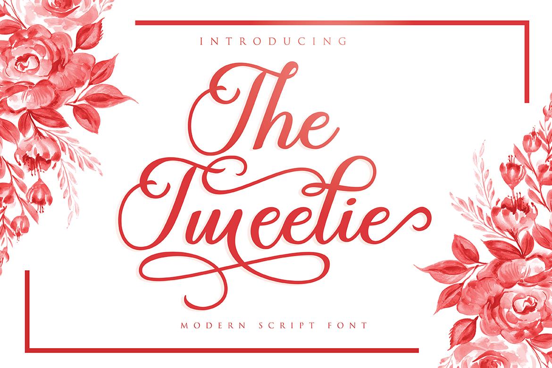 The Tweelie in Calligraphy Fonts