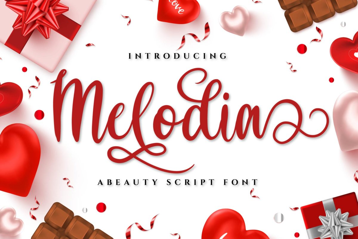 Melodia in Calligraphy Fonts