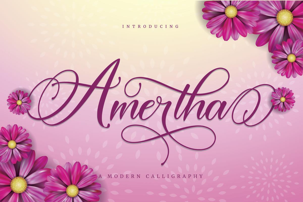 Amertha in Calligraphy Fonts