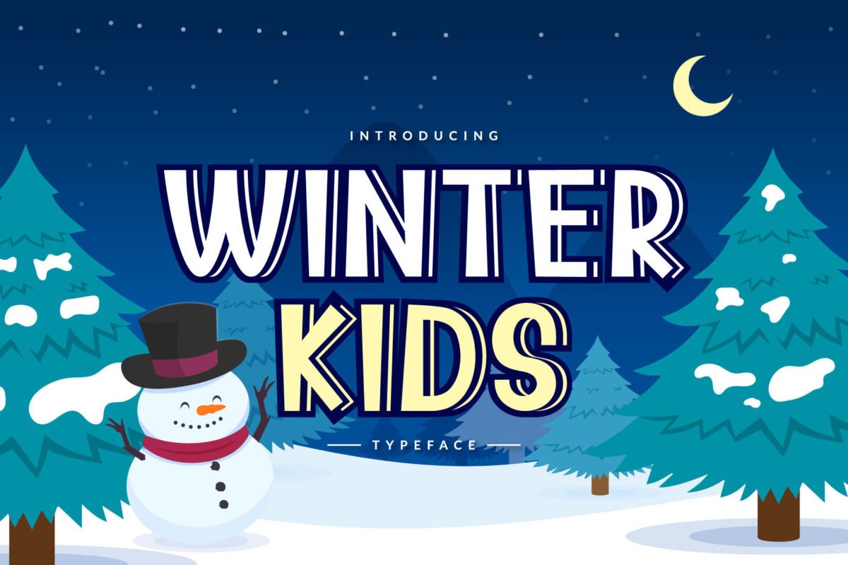 Winter Kids in Display Fonts