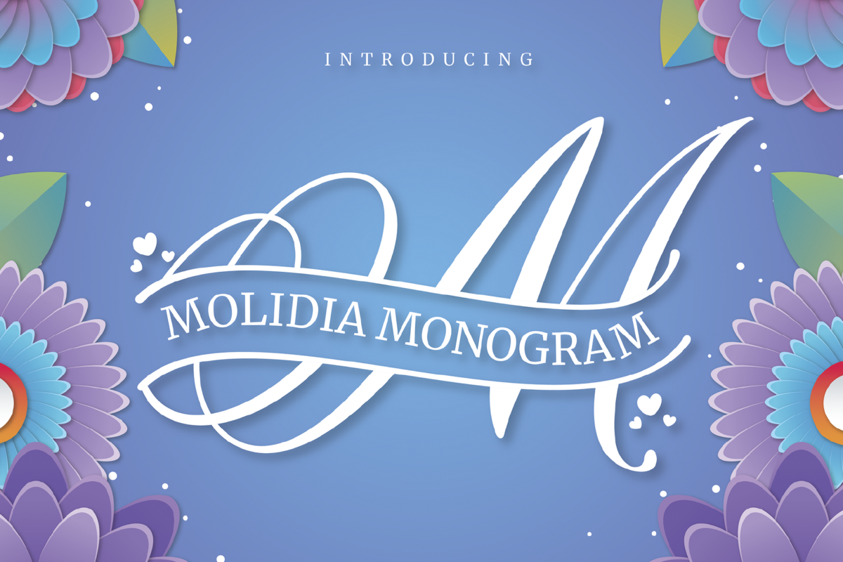 Molidia Monogram in Display Fonts