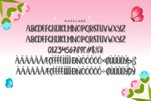 Roseland in Calligraphy Fonts