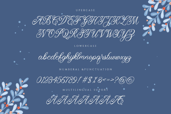 Monitha in Calligraphy Fonts