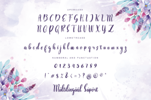 Love Spring in Calligraphy Fonts