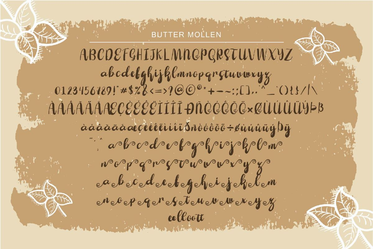 Butter Mollen in Handwriting Fonts