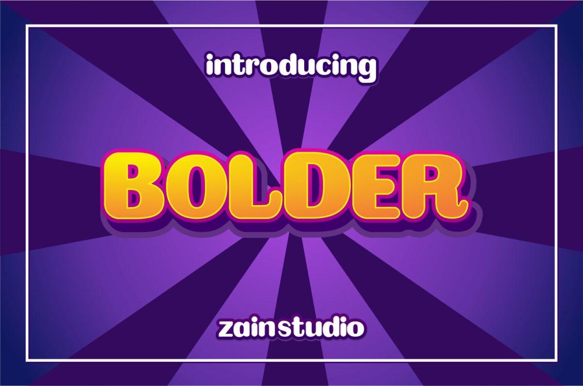 BOLDER in Display Fonts