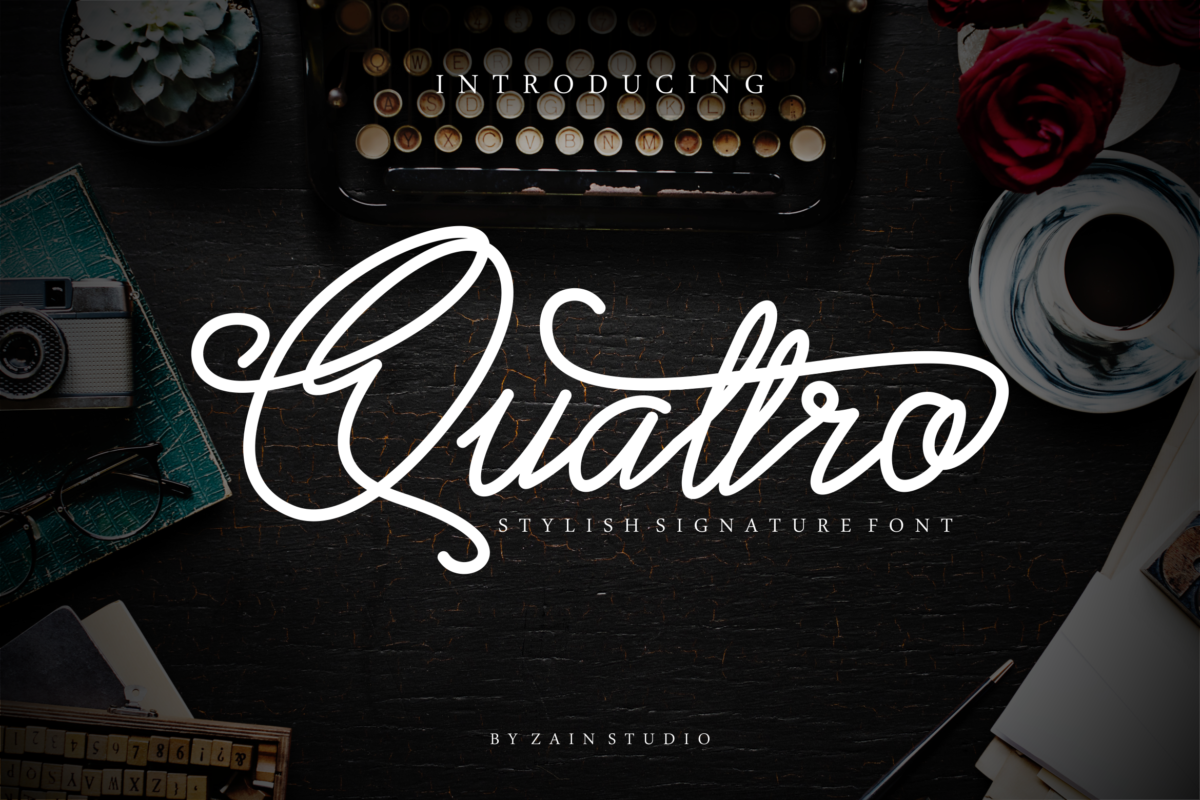 Quattro in Calligraphy Fonts