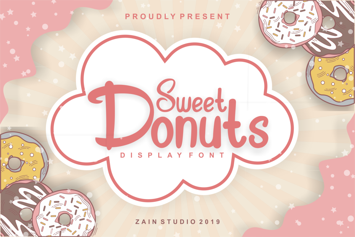 Sweet Donuts in Display Fonts