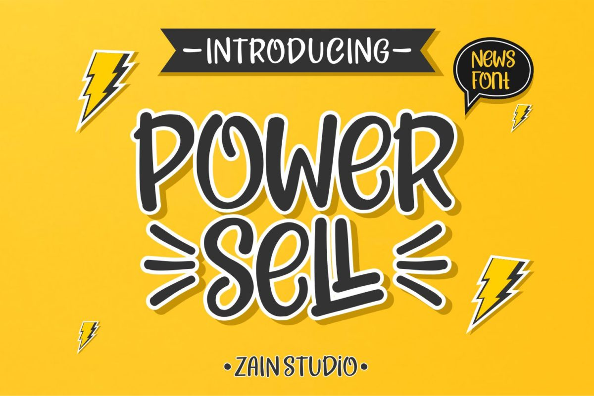 Power Sell in Display Fonts