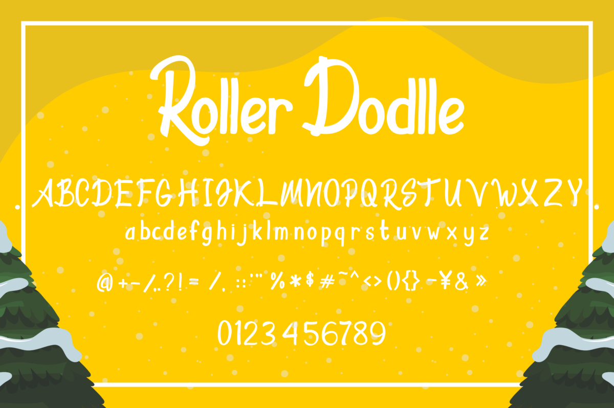 Roller Dodlle in Display Fonts