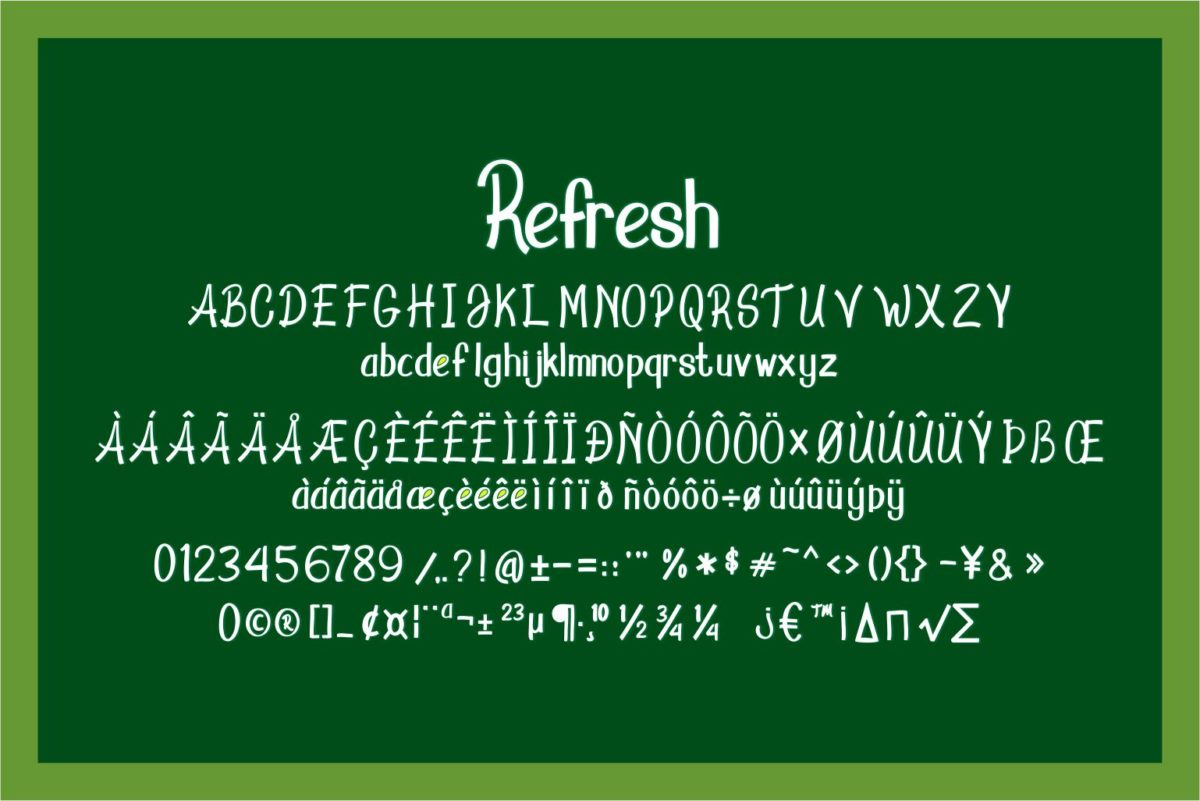 Refresh in Display Fonts