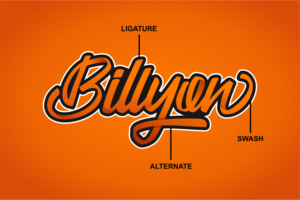 Billyon in Calligraphy Fonts