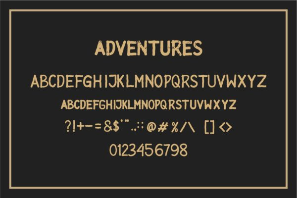 ADVENTURES in Display Fonts