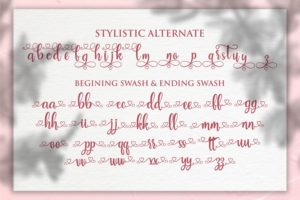 Smiles Women in Calligraphy Fonts