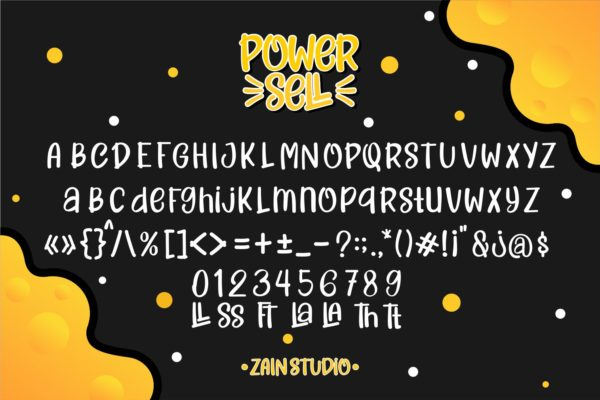Power Sell in Brush Fonts