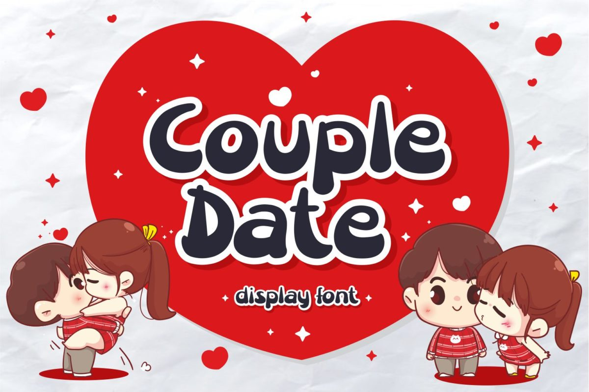 Couple Date in Display Fonts