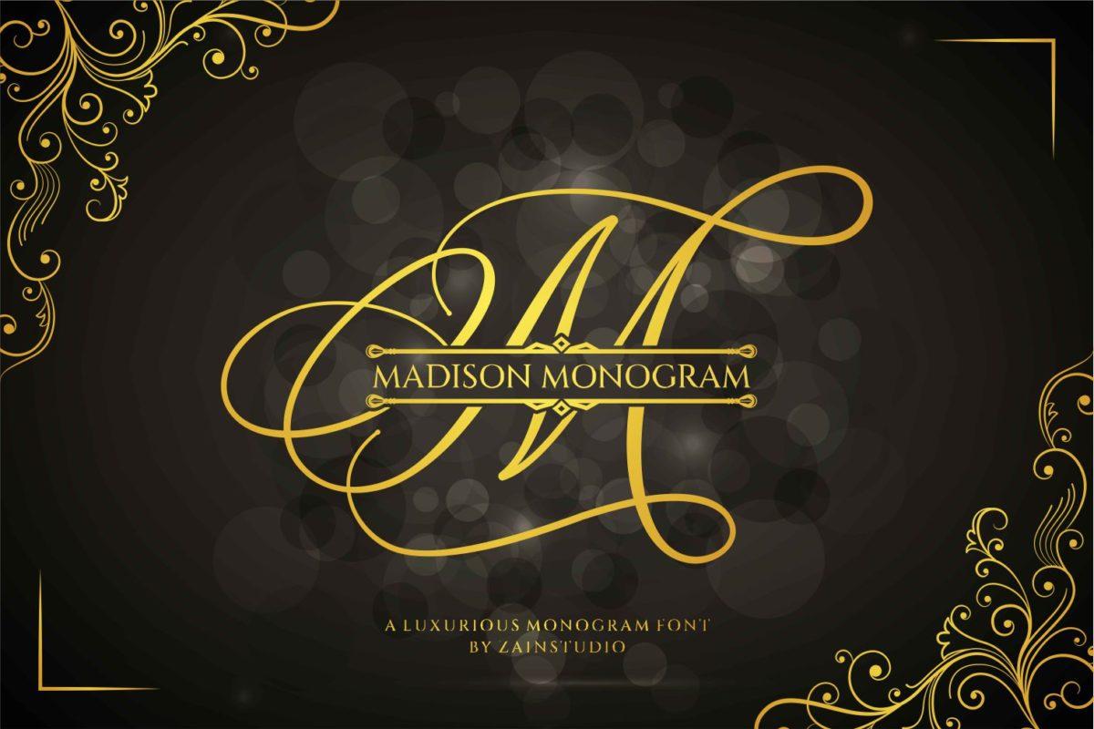 Madison Monogram in Decorative Fonts