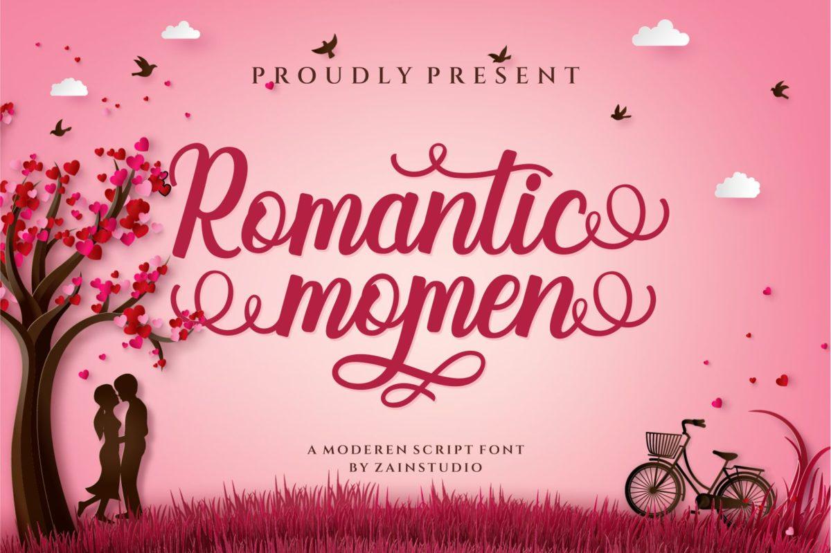 Romantic Momen in Script Fonts