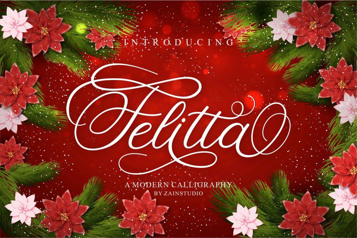 Felitta in Script Fonts