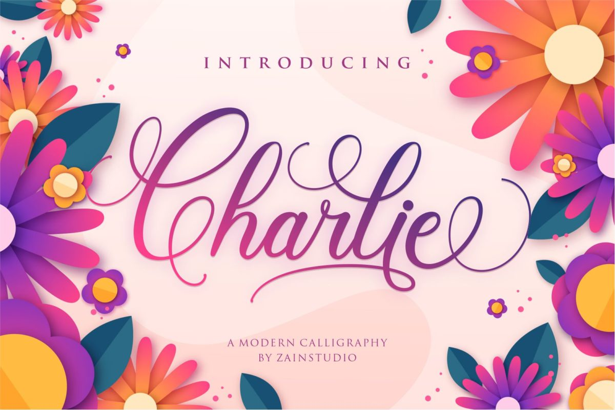 Charlie in Calligraphy Fonts