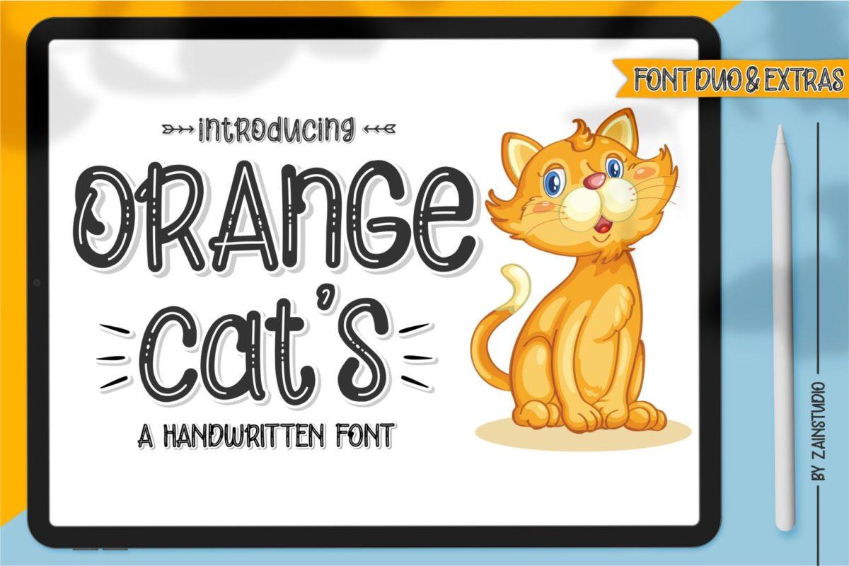 Orange Cat's in Display Fonts