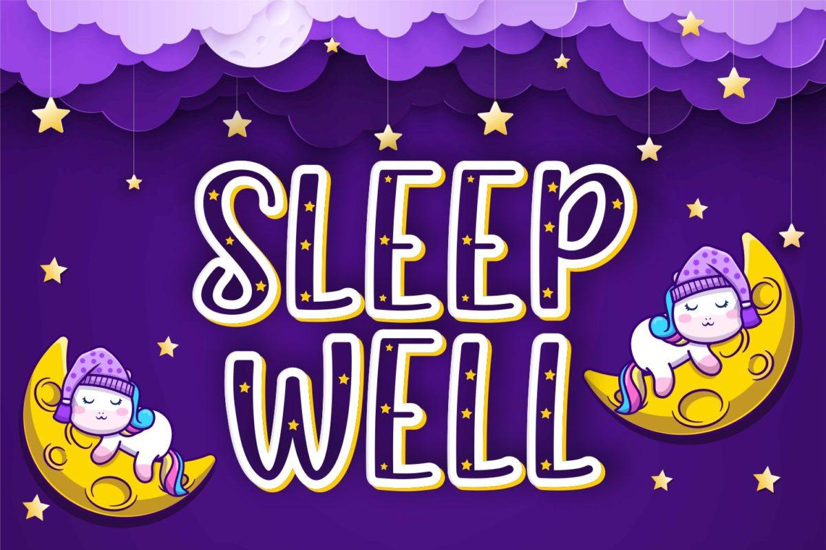 Sleep Well in Display Fonts