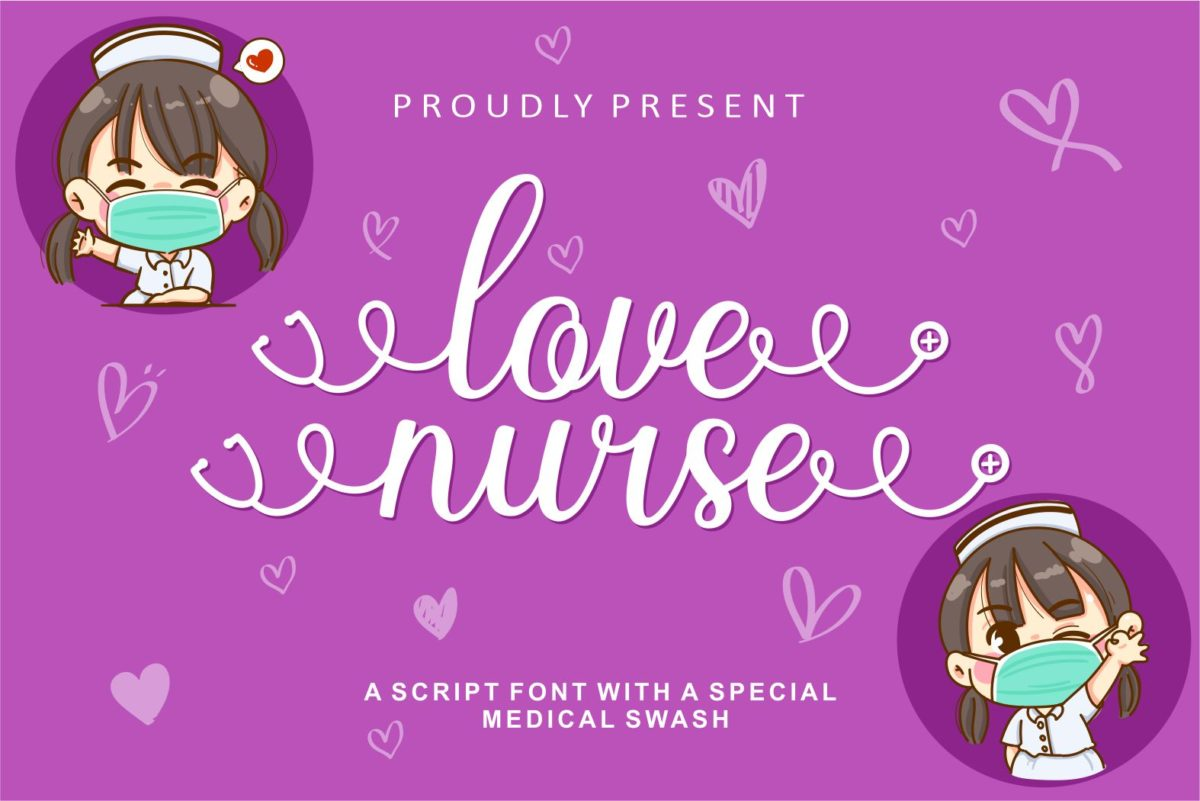 Love Nurse in Calligraphy Fonts