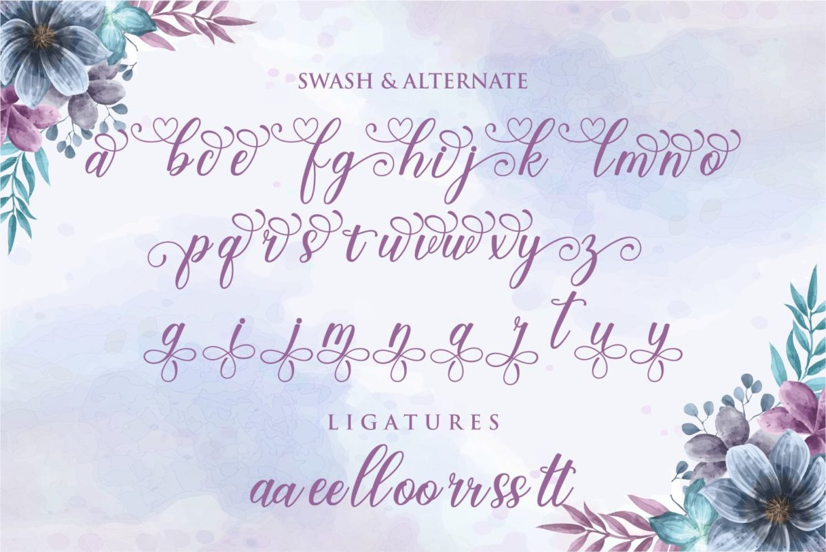 Garden Party in Calligraphy Fonts
