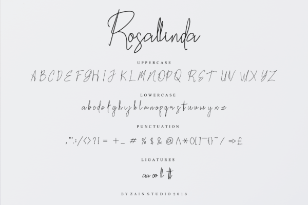 Rosallinda in Script Fonts