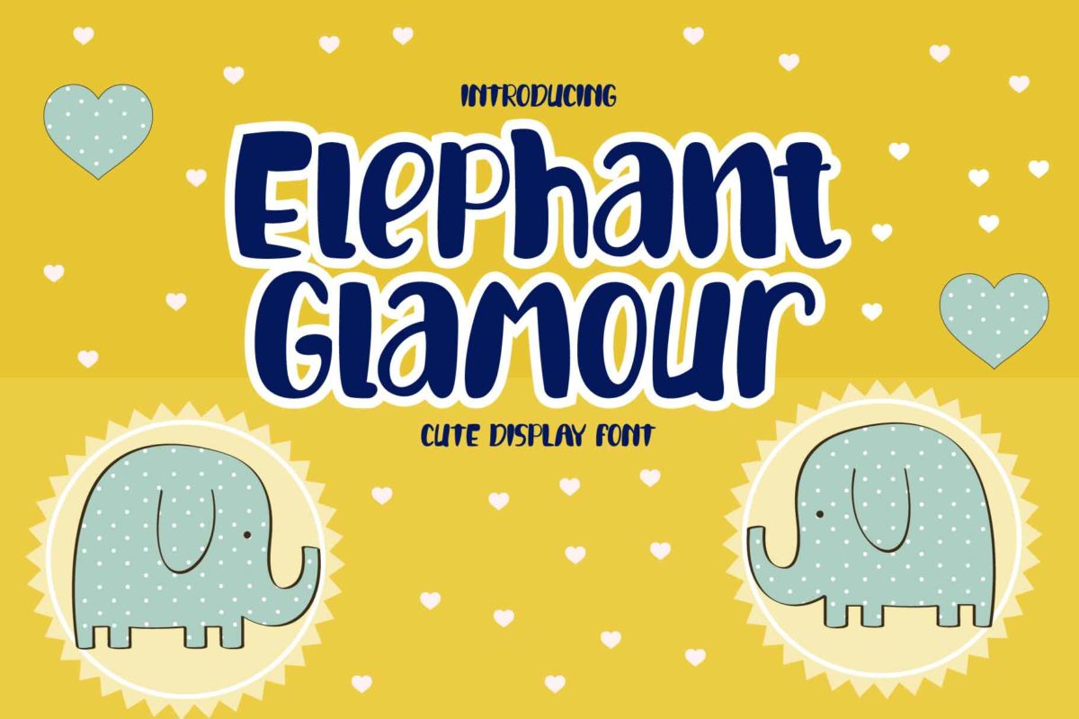 Elephant Glamour in Display Fonts
