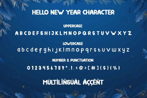 Hello New Year in Display Fonts