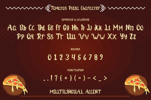 Tomatos Pizza in Display Fonts