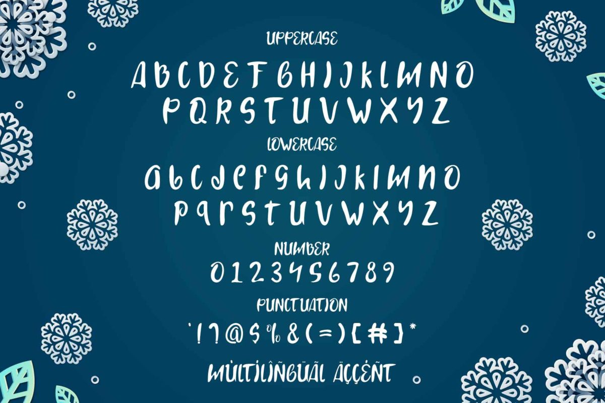Snow Landy in Display Fonts