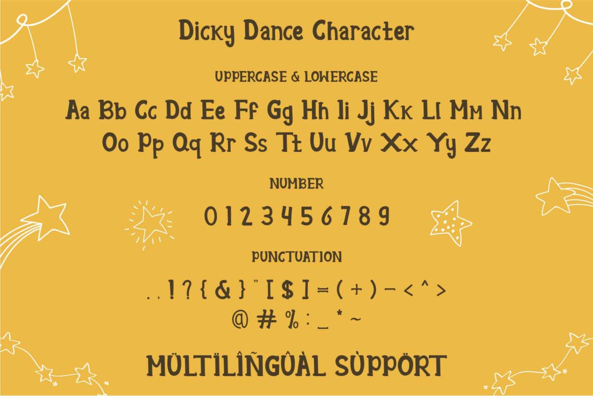 Dicky Dance in Display Fonts