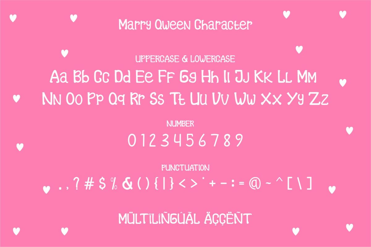 Marry Qween in Display Fonts