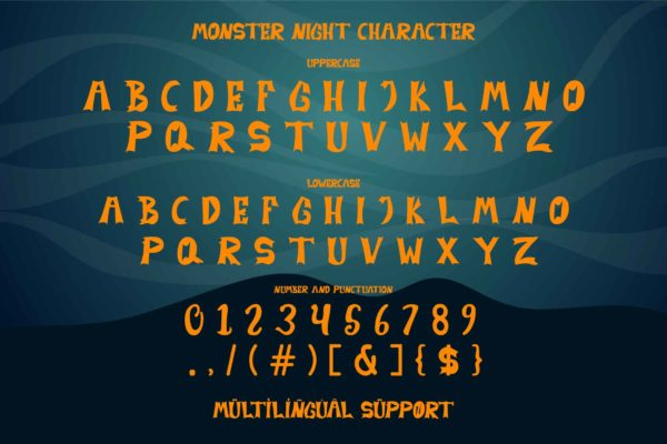 Monster Night in Display Fonts