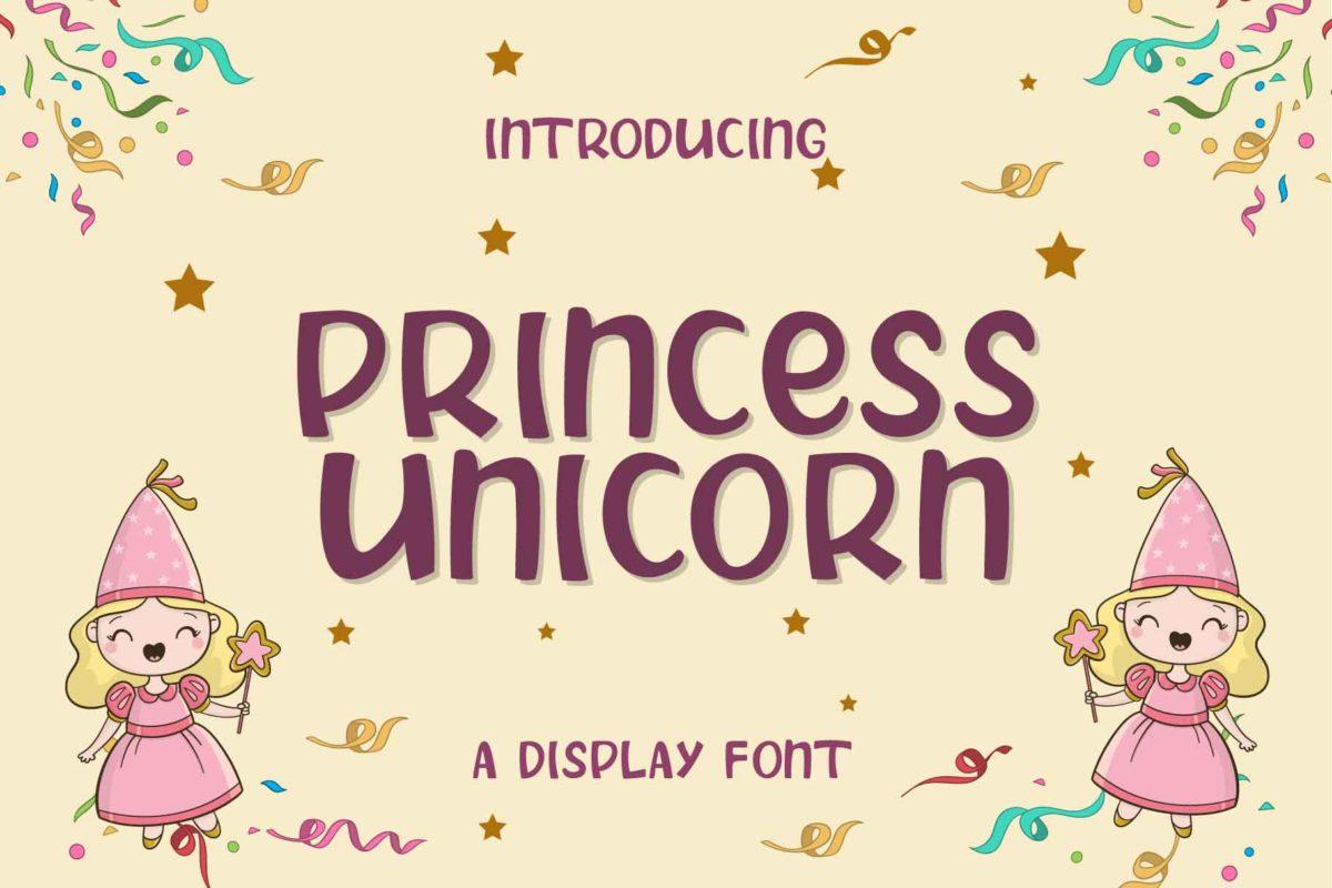 PRINCESS UNICORN in Display Fonts
