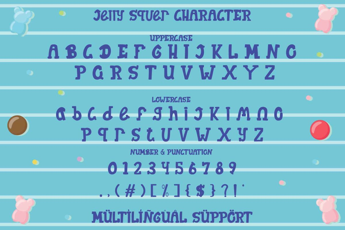 Jelly Squer in Display Fonts