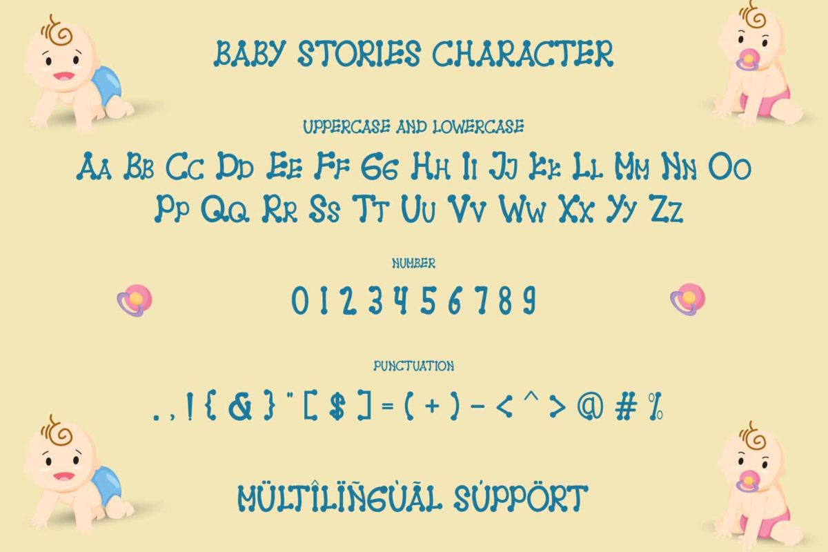 Baby Stories in Display Fonts
