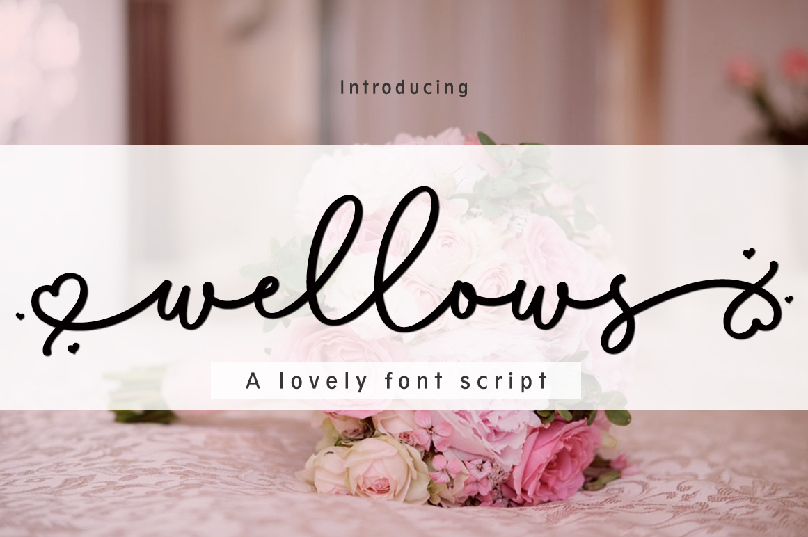Wellows in Script Fonts