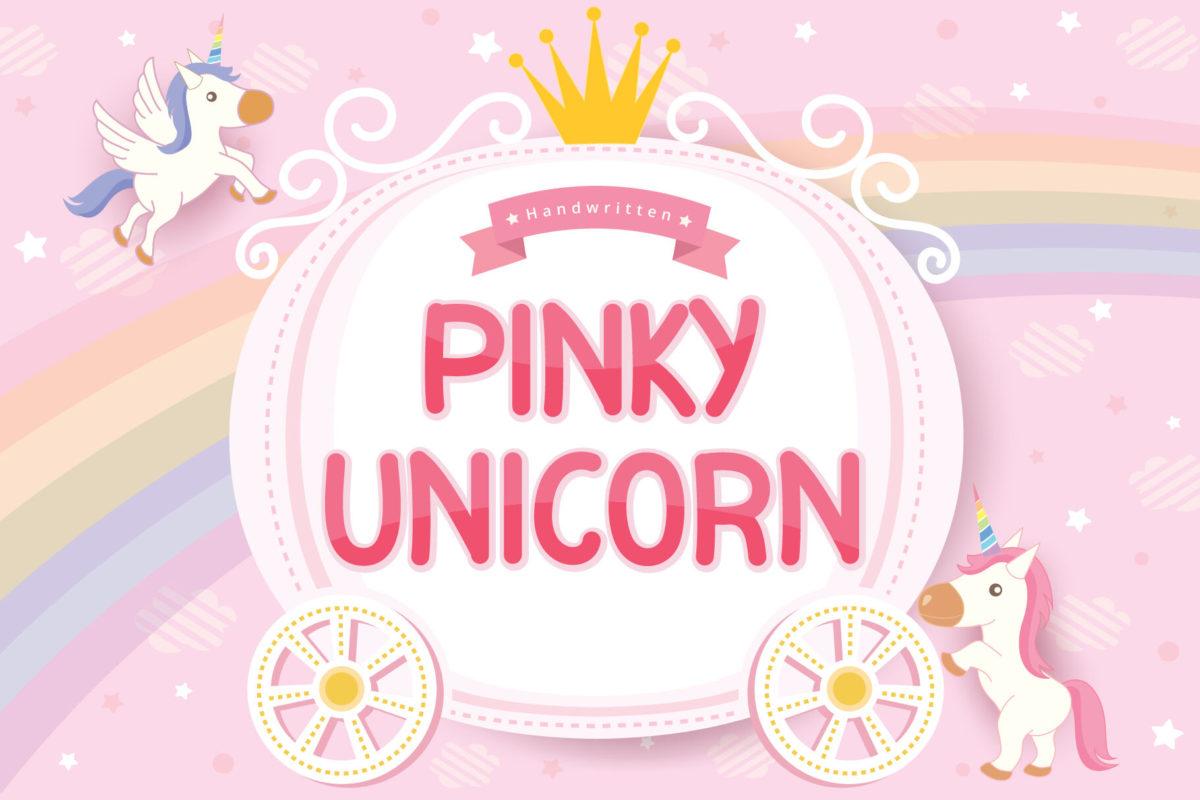 Pinky Unicorn - Display Font in Display Fonts