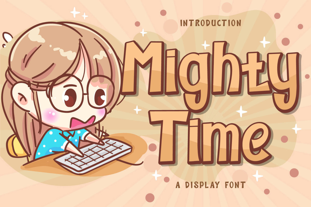 Mighty Time - Display Font in Display Fonts