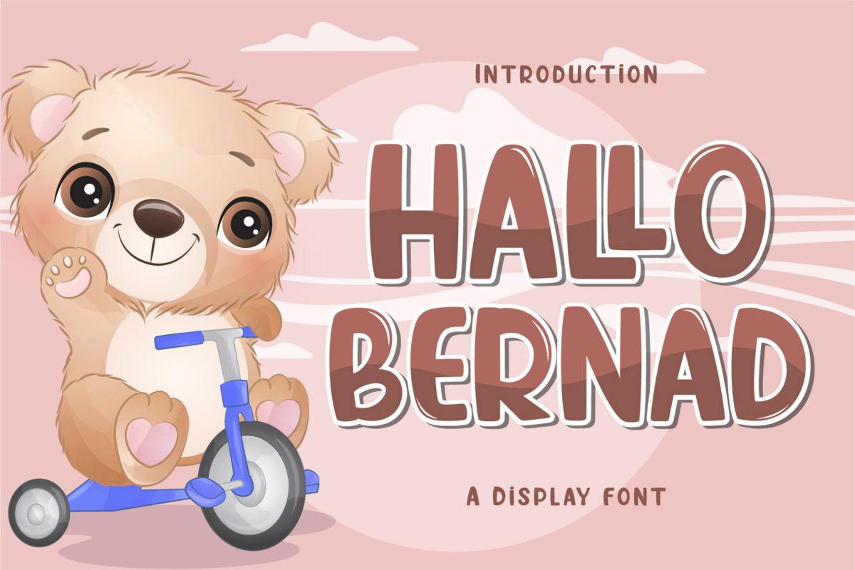 Hallo Bernad - Display Font in Display Fonts