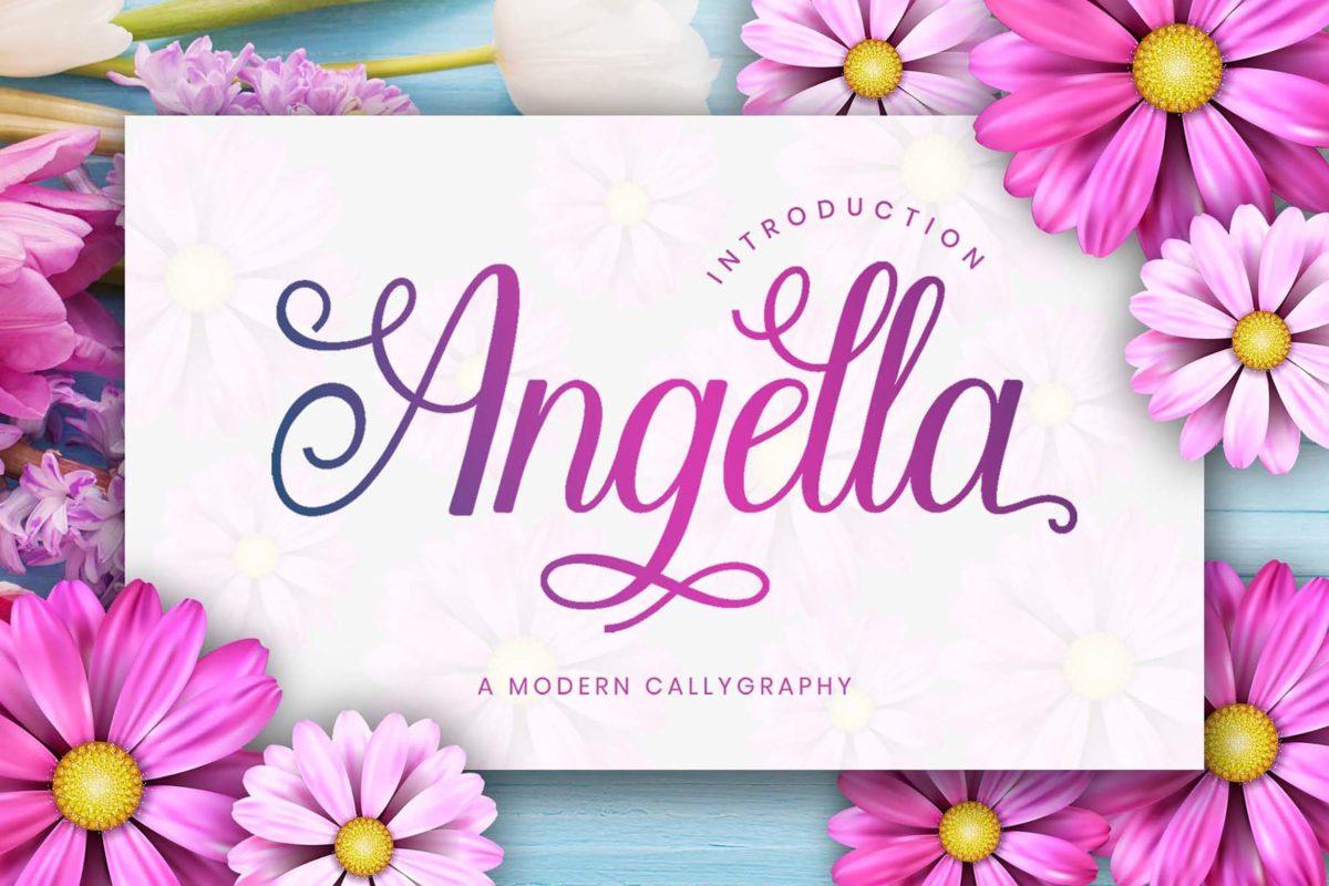 Angella - Script Font in Script Fonts