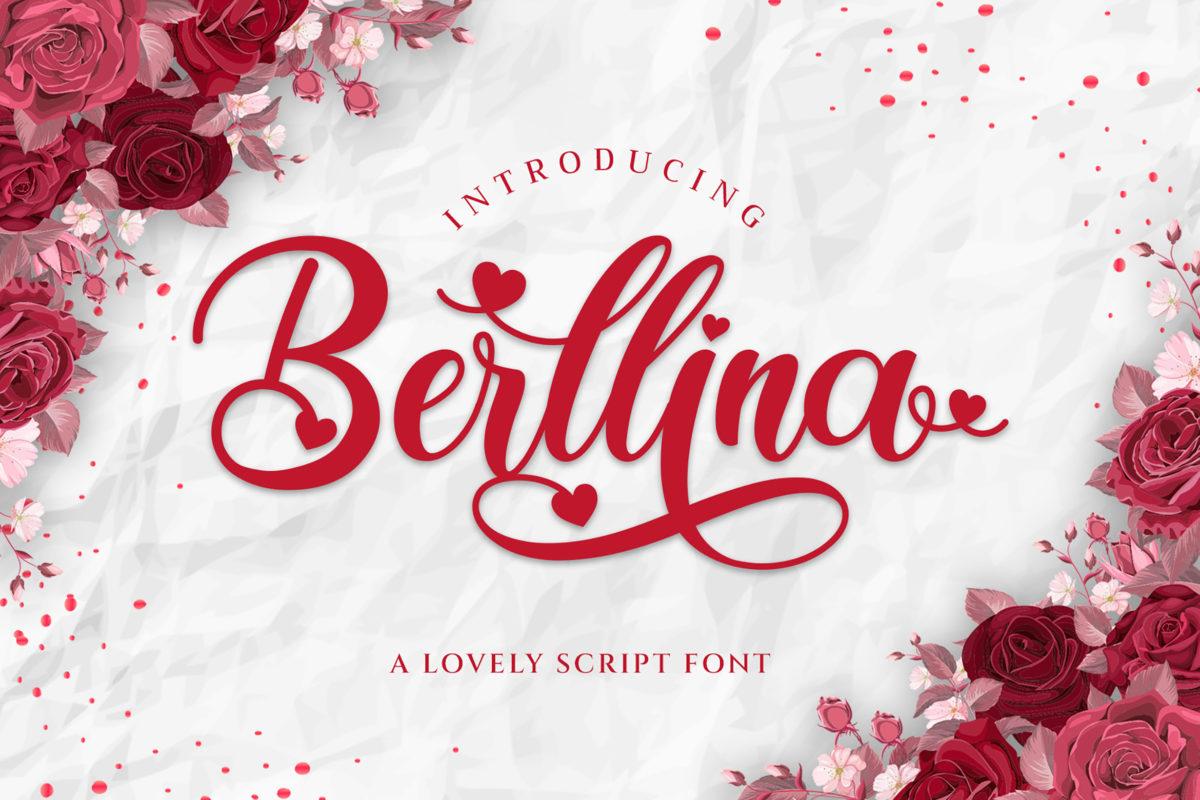 Berllina - Script Font in Script Fonts