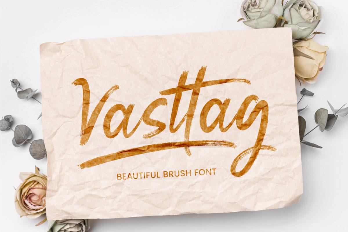 Vasttag Brush in Script Fonts